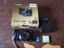 Fujifilm FinePix F660EXR 16MP Digital Camera Black W/ Battery Charger SD