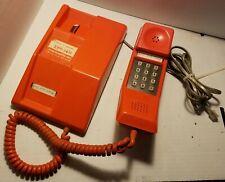 Vintage Retro Orange TouchTone Telephone Contempra Northern Telecom Untested