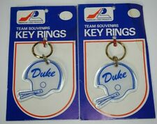 Vtg 1980's Duke Blue Devils Acrylic Helmet Keychains - Lot of 2