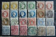 Gestempelte ungeprüfte Briefmarken Sammlung österreichische