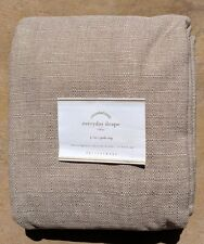 "POTTERY BARN ~ EVERYDAY DRAPE IN FLAX (BEIGE) COLOR ~ 50"" X 108"" ~ 4 AVAILABLE"