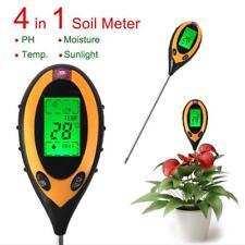 4in1 pH-Wert Messer LCD Messgerät Pflanze Blumen Gras Feuchtigkeit Boden Tester