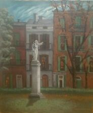 """EVENING PIPER'S ALLEY NEW ORLEANS JULY '96 OIL PAINTING 24""""x20"""" JOHN C GALLAGHER"""