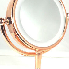 "Rucci Tabletop LED Lighted Makeup Mirror, 5x/1x Mag. 6"" Mirror Dia.x 11.5"" Ht."