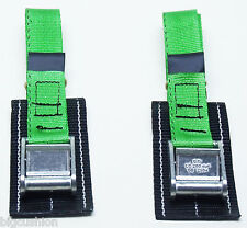 2-pack Bike Cycle Rack Carrier TOUGH cam straps PADDED L45cm GREEN