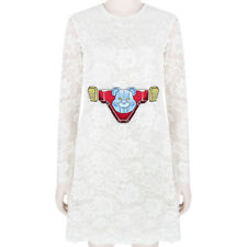 Ground Zero White Lace Robot Bear Embroidered Dress S UK8 US4