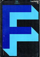 Ford 1970 UK Salesmans Brochure Escort Cortina Corsair Capri Zephyr Zodiac