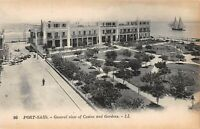 POSTCARD   EGYPT  PORT  SAID  General  View  Casino  and  Gardens   LL  95