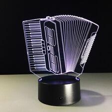 Nuit Lumière Lampe Acrylique Accordéon Piano à Bretelle Instrument Musique Cadea