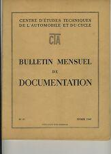 (51) Revue Centre Etudes Techniques Automobile et Cycle (CTA) Février 1949