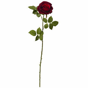 """33"""" Elegant Red Large Rose Artificial Flower Home Decor Nearly Natural Set Of 6"""