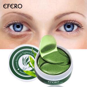 60PCS Green Seaweed Collagen Eye Gel Patches Anti-Wrinkle Dark Circle Eye Mask