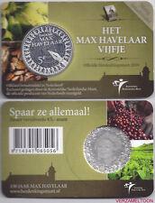 """NEDERLAND 5 EURO  2010: """"HET MAX HAVELAAR VIJFJE"""" IN COINCARD"""
