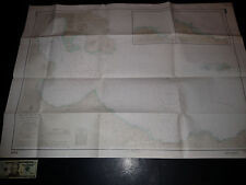 Antique Vintage US Navy Nautical Chart Aeronautical Map Blanche Bay Pacific Isls