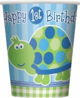 FIRST 1st BIRTHDAY BOY TURTLE PARTY Tableware Range Party Balloons & Decorations