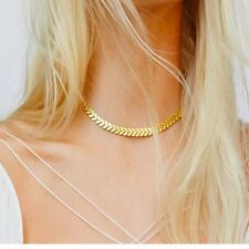 Celebrity Gold Arrow Pendant Fashion Chain Collar Choker Necklace Free Shipping