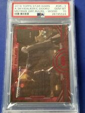 2016 Star Wars Masterwork Great Rivalries Wood - GR-3 Skywalker/Dooku  PSA 10