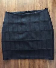 Faux Leather High Waist Hand-wash Only Skirts for Women