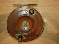 """Good Quality 4"""" Wood & Brass Starback Vintage Fishing Reel with line guard"""