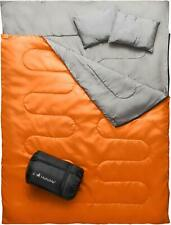 MalloMe Camping Sleeping Bag - 3 Season Warm & Cool Weather Double