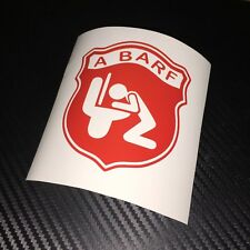 RED A BARF Car Sticker Decal Funny Fun Rat Look Fiat Abarth Panda 500