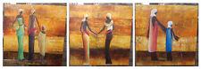 180cm x 60cm handgemaltes Canvas Öl Bild 3-tlg. aufgespannt auf Holz Keilrahmen