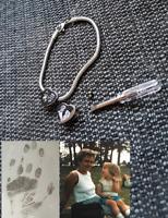 Engraved Cremation ashes urn Pandora/ Slider charm MEMORIAL Bracelet LOCKET