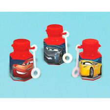 CARS 3 MINI BUBBLES (12) ~ Birthday Party Supplies Favors Toys Lightning McQueen