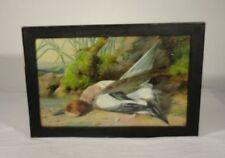 Antique Watercolor Painting of Duck Signed William Cruikshank Hunting Waterfowl