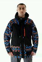 O'NEILL Mens Black AOP Powder Shell 15K/10K Ski Jacket Coat XL BNWT