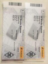 2 Tickets Block 1A Borussia Mönchengladbach gegen Werder Bremen