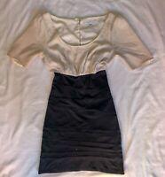 Size 12 Forever New Dress Corporate Work Wear Black High Waist Skirt Silk Pencil