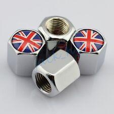 Car Motor Parts Tyre Valve Dust Cap Hat Decor United Kingdom UK Flag Metal Style
