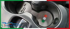 fiat 500x protezione fondo portaoggetti cup holder tunnel centrale acciaio inox