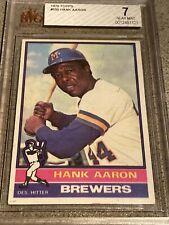 1976 Topps #550 Hank Aaron  Milwaukee Brewers BVG 7 NEAR MINT