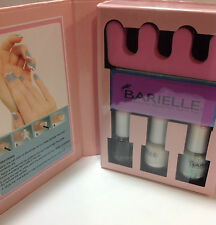 Barielle Ice Blue Mini French Manicure / Pedicure Tool Kit NEW