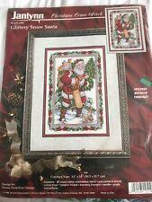 Janlynn Christmas Cross Stitch Glittery Snow Santa Kit