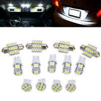13pcs Car White LED Lights Kit for Cars Stock Interior Dome License Plate Lamps