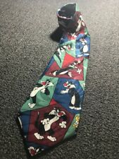 Warner Bros Sylvester Cat Looney Tunes Novelty Tie