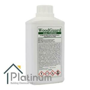 WOODGUARD DUAL Woodworm & Dry Rot Treatment - (Makes 25L) | Wood Preserver Spray