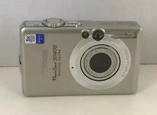 Canon PowerShot Digital ELPH SD600 6.0MP Silver Camera. Tested. Works Great.