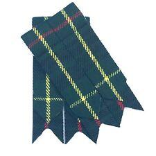 Scottish Kilt Sock Flashes Hunting Stewart Tartan/Highland Kilt Hose flashes