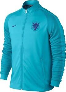 MEN'S NIKE N98 NETHERLANDS NATIONAL HOLLAND JACKET SOCCER FOOTBALL BLUE SIZE M