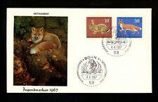 Postal History Germany Fdc #B422-B425 Set Of 2 Animals wildlife 1967