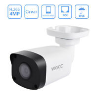 WGCC PoE IP Camera 4MP Outdoor Security Night Vision Bullet Remote Viewing 3.6mm