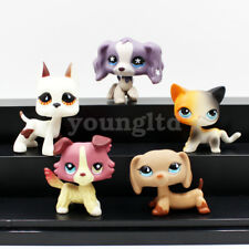 5X littlest pet shop lps toys cats and dogs COLLIE DACHSHUND GREAT DANE SPANIEL