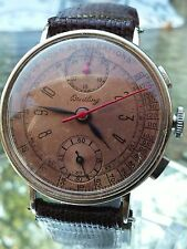 BREITLING Vintage Chronograph for Men - Museum Quality, Copper Dial and Serviced