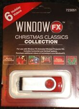 Animated Christmas Window FX Decoration USB Classic Collection with 6 Videos New