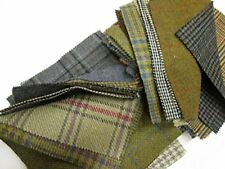 Tweed Fabric Patchwork Patches 10 Pieces