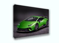 2018 Lamborghini Huracan Lambo Car Auto Race Poster Canvas Print Art Decor Wall
